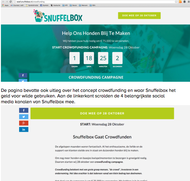 Succesvolle crowdfunding campagne met speciale crowdfunding pagina