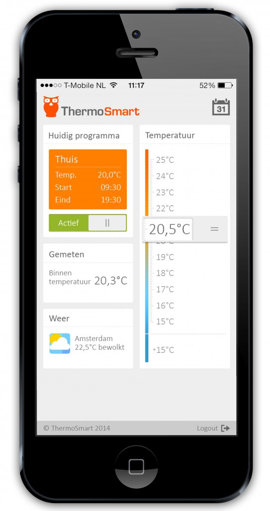 ThermoSmart mobile device