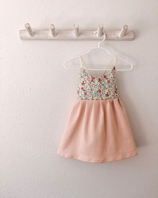 Cute little dress for a cute little girl! Did you know I take custom orders for these dresses? I love working with clients to find the right color, print, and fabric for your little girl.