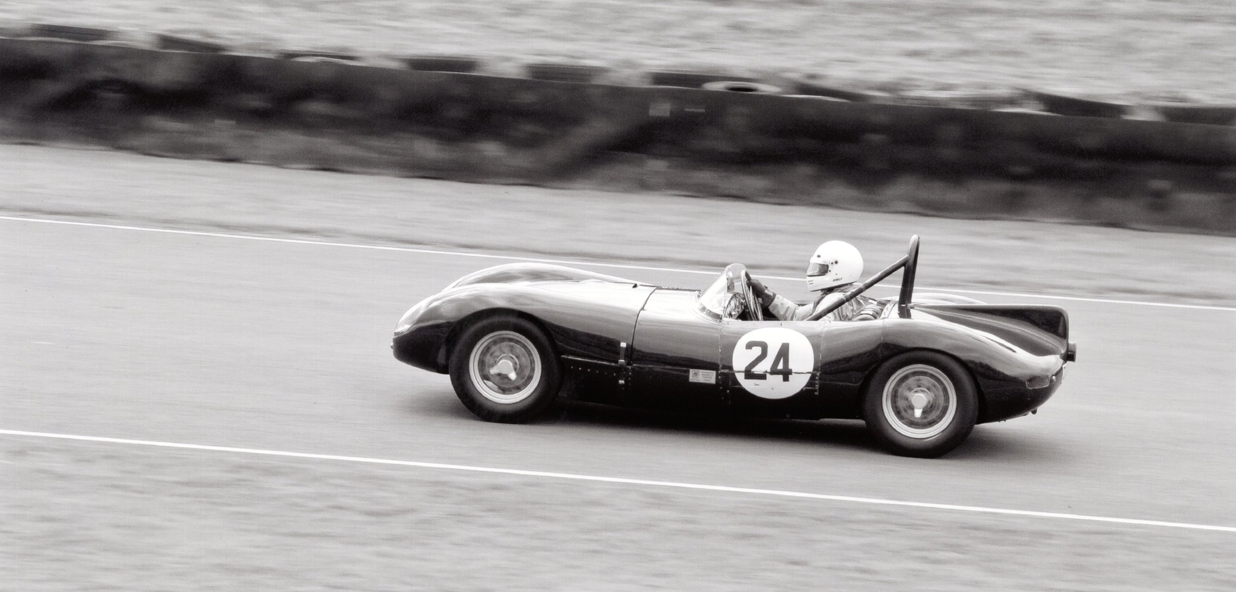Playford MG in action at the Goodwood Revival