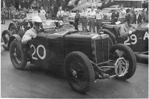 J4005 with Otto Linton behind the wheel awaits the start of the 1948 Watkins Glen Grand Prix
