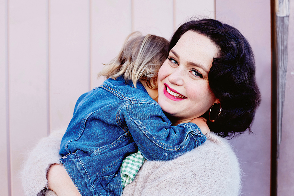 Post-natal doula, Naomi Chrisolakis and her daughter, Margot