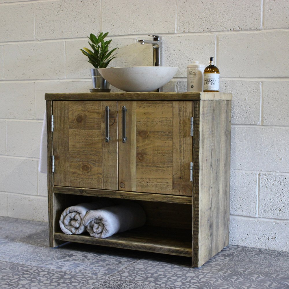 Anna Solid Wood Vanity Unit Old Man Magpie