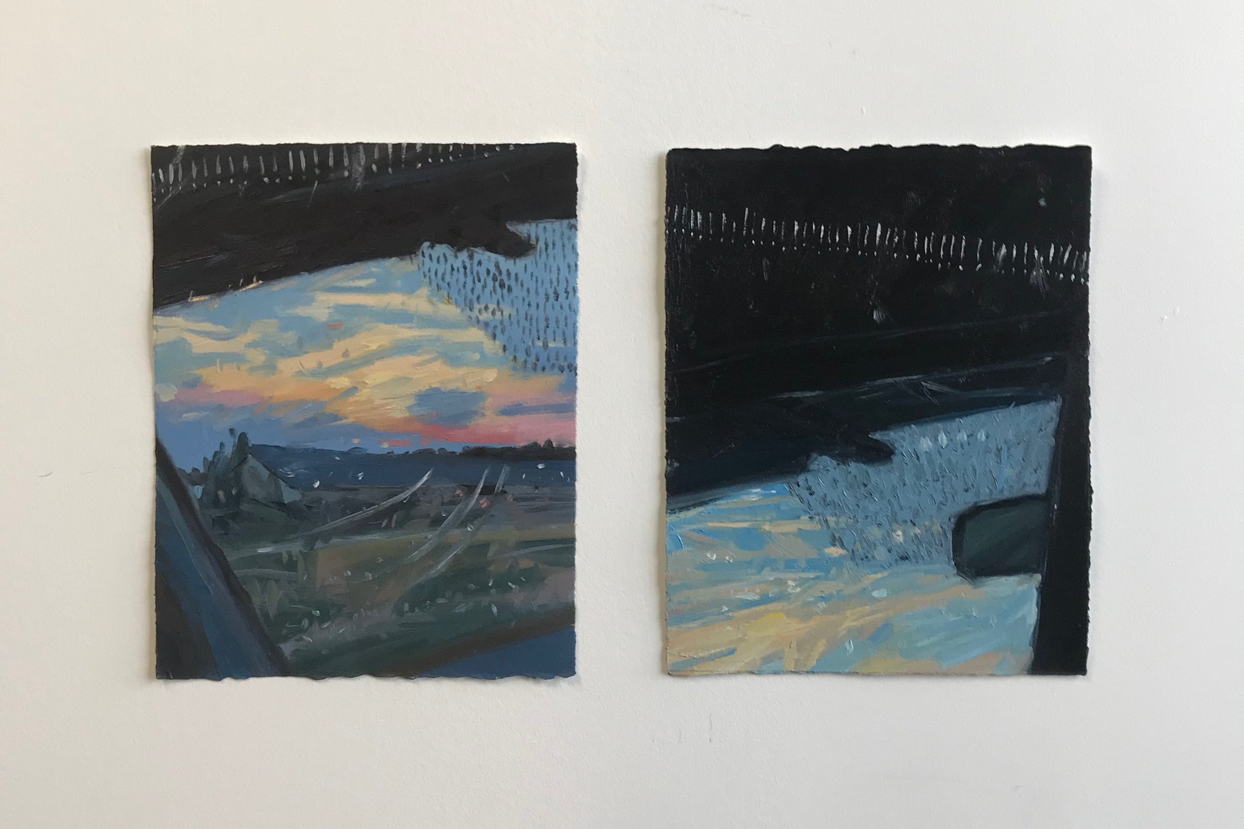 Untitled Studies, Oil on Paper