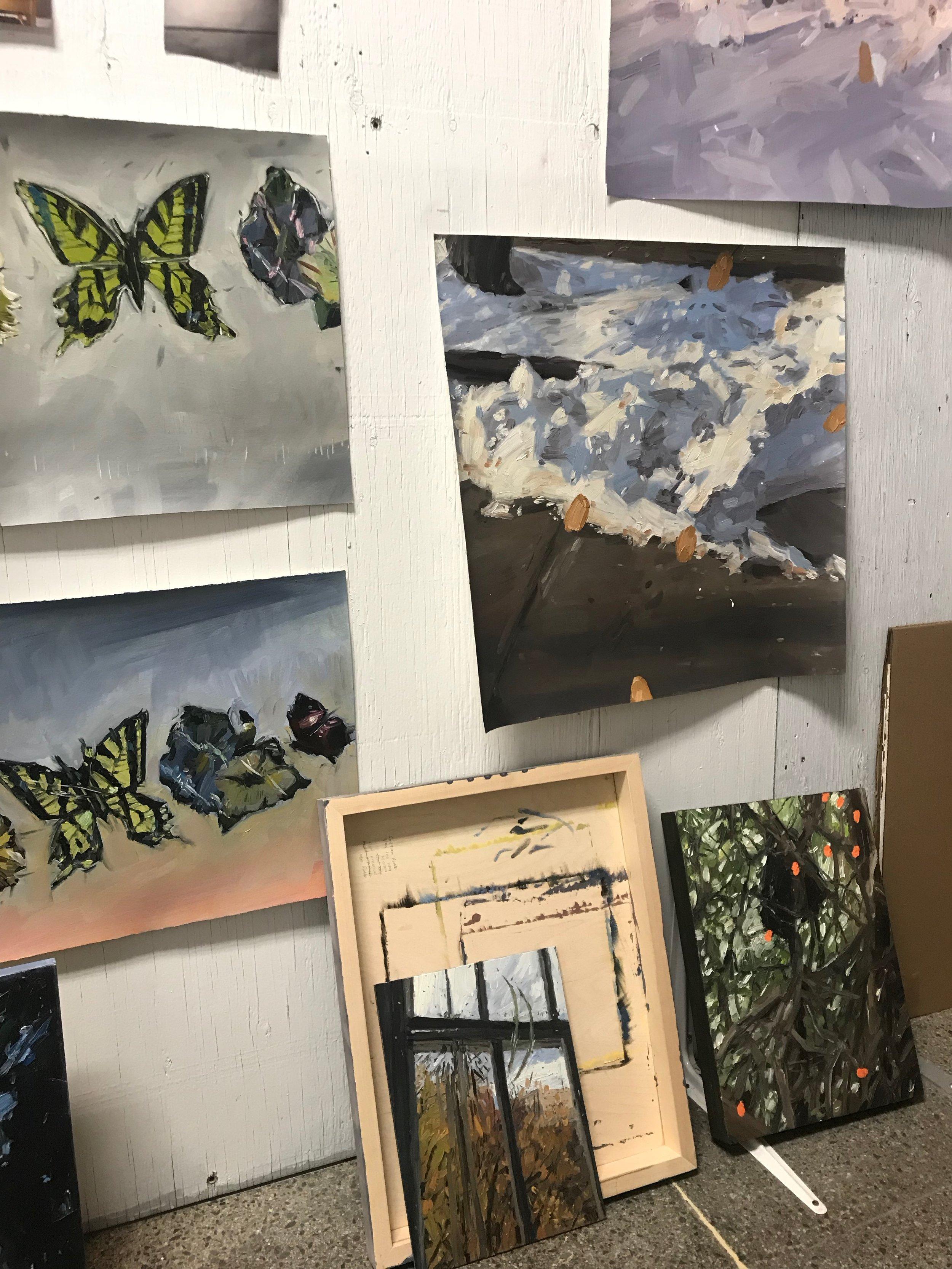 Emma's studio wall
