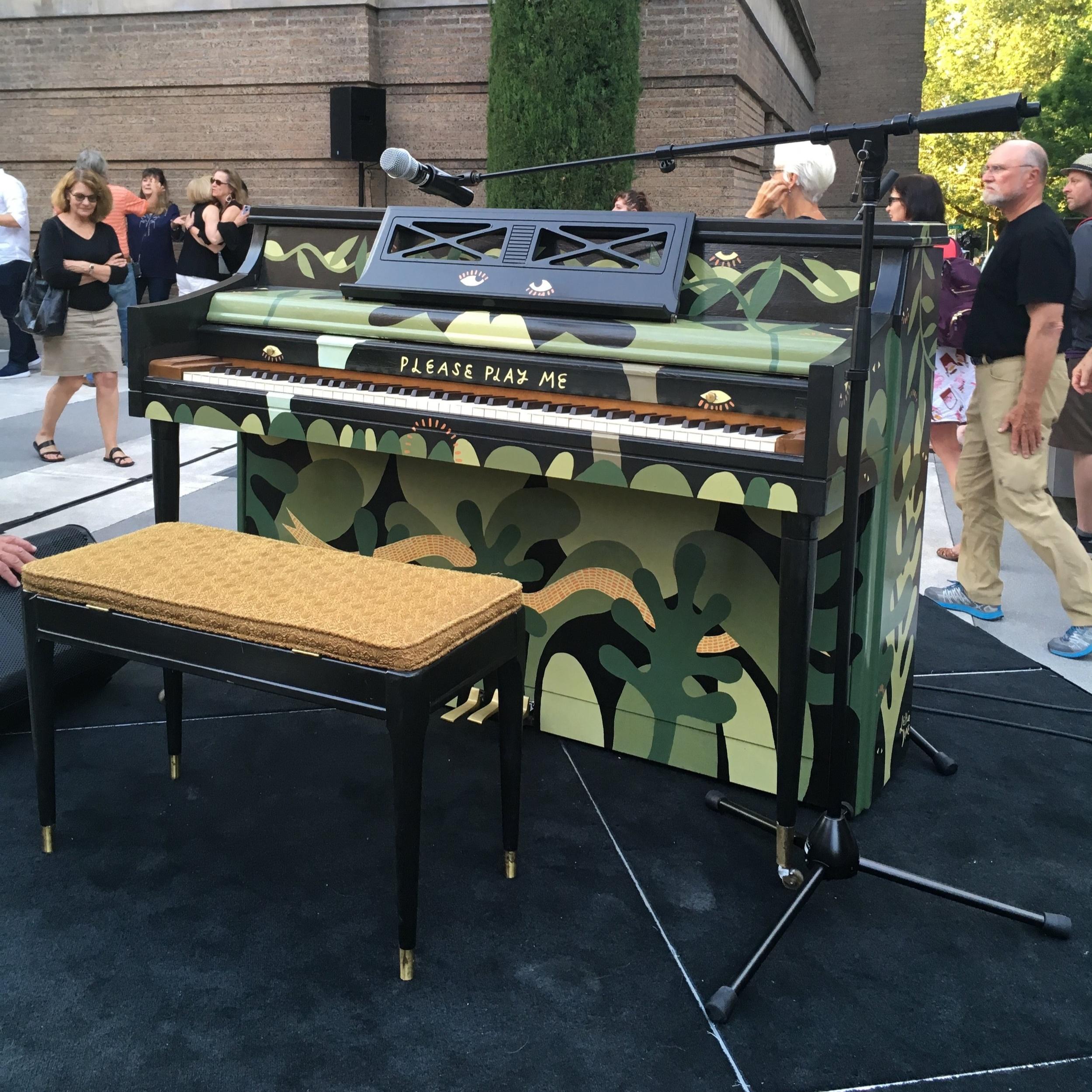 "My 2017 piano ""Norah"" at the Portland Art Museum."