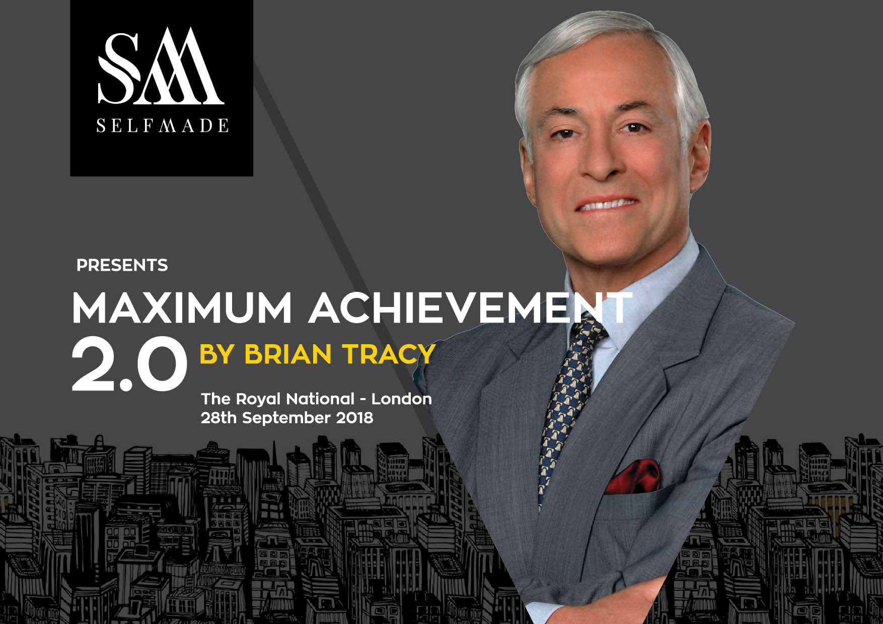 Maximum Achievement 2.0 - I will be speaking at the Brian Tracy Maximum Achievement 2.0Join me and a host of other amazing speakers at The Royal National, London on the 28th of September! Get more details here