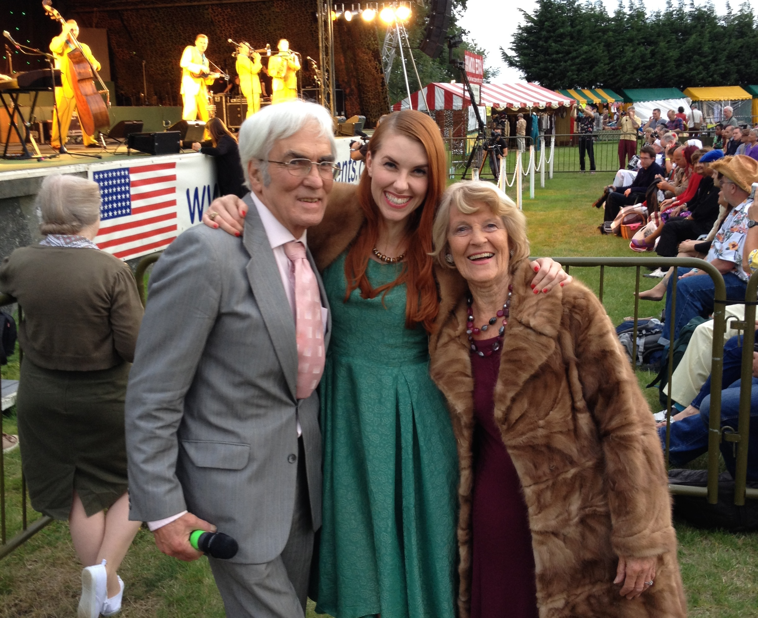 Bunny with Big Band Leader, John Miller, and her Great Aunt, Yvonne