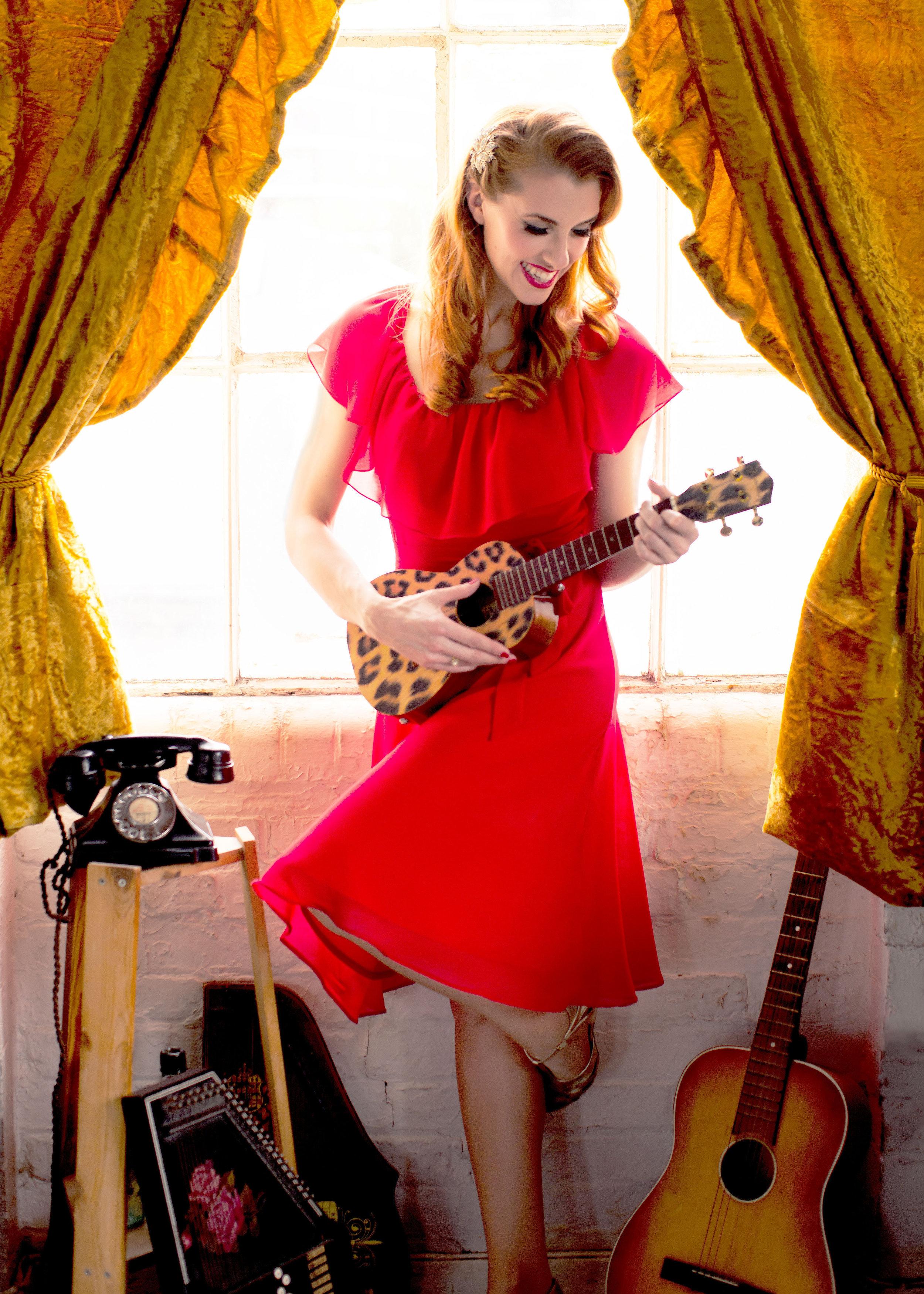 Bunny Nightingale Vintage Singer Ukulele