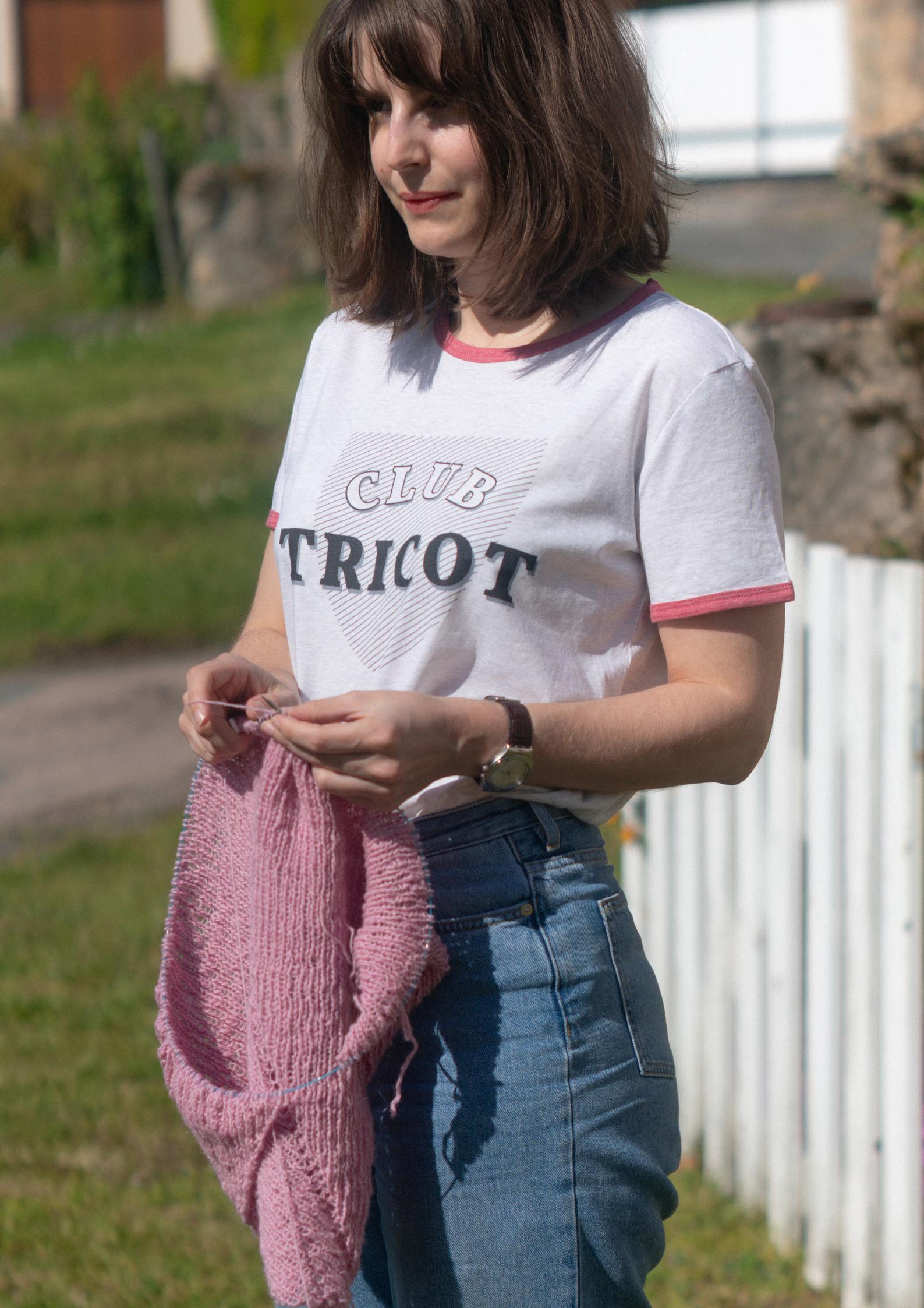 Alice Hammer est Présidente du Club Tricot.