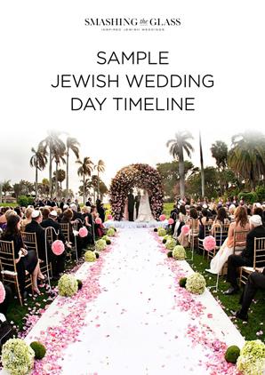 Jewish Wedding Day Timeline