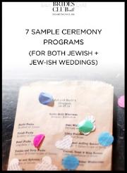 7 x Sample Jewish Wedding Ceremony Programs