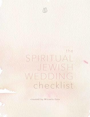 Spiritual Jewish Wedding Checklist