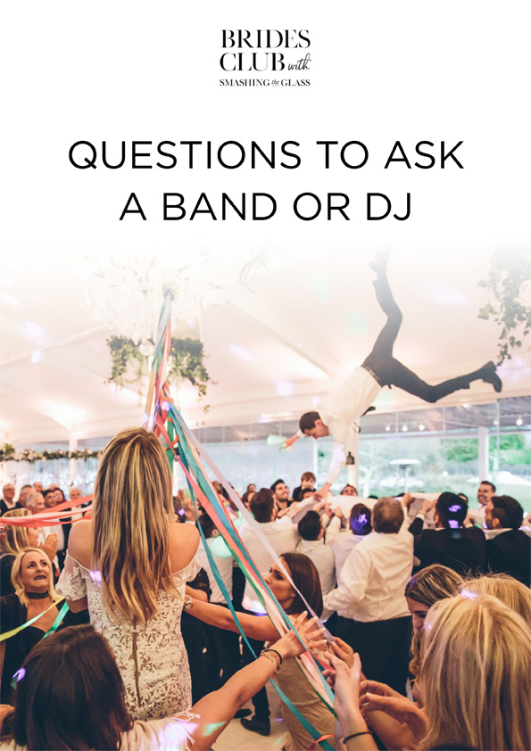 Questions to ask a Band or DJ