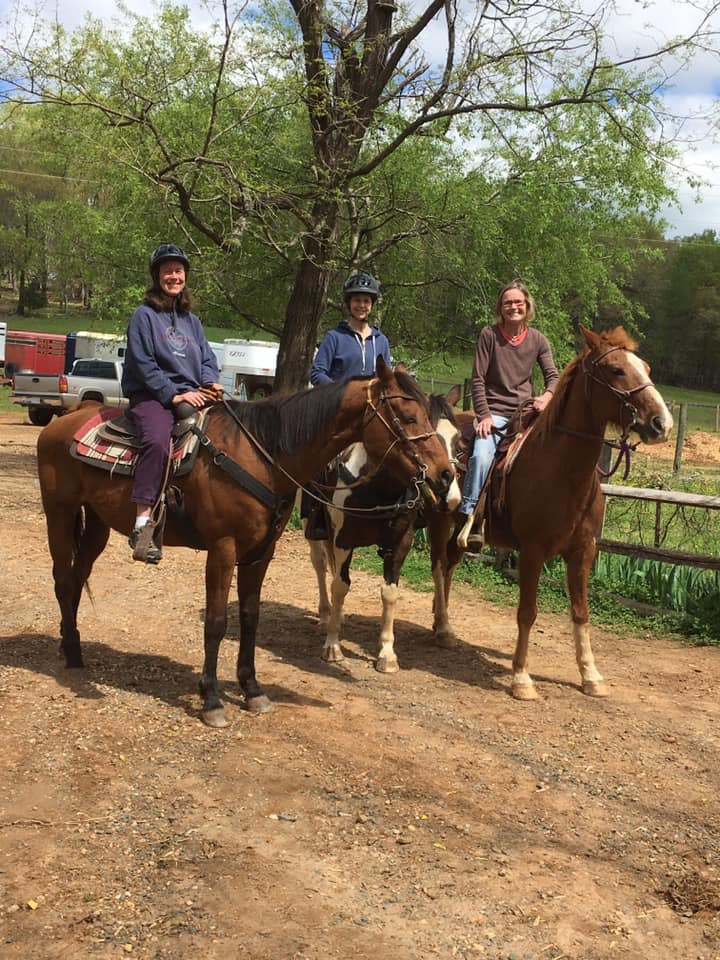 When visiting Crozet, one must ride horses!!