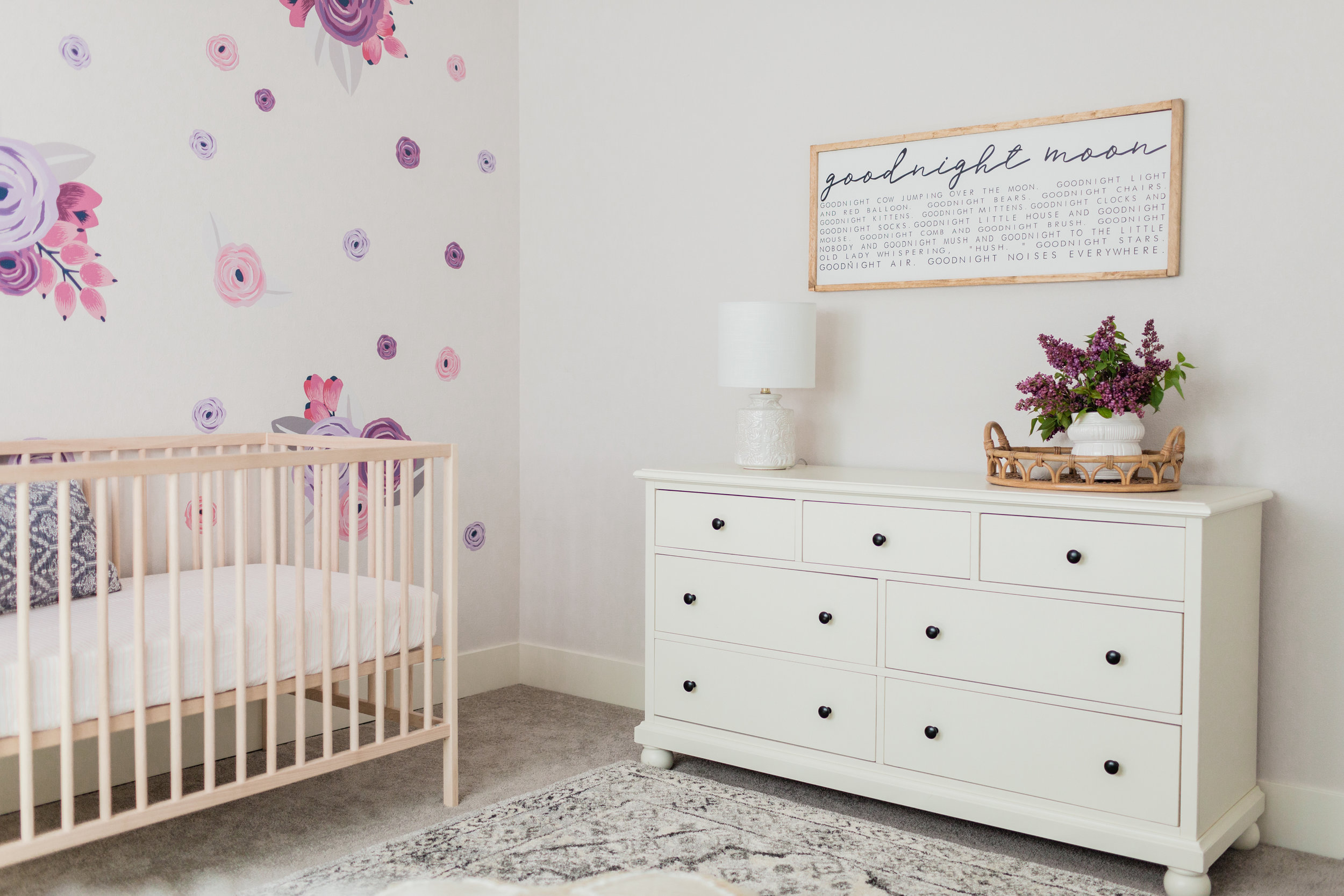 Charming Floral Nursery Design by Harper Rae Design Co