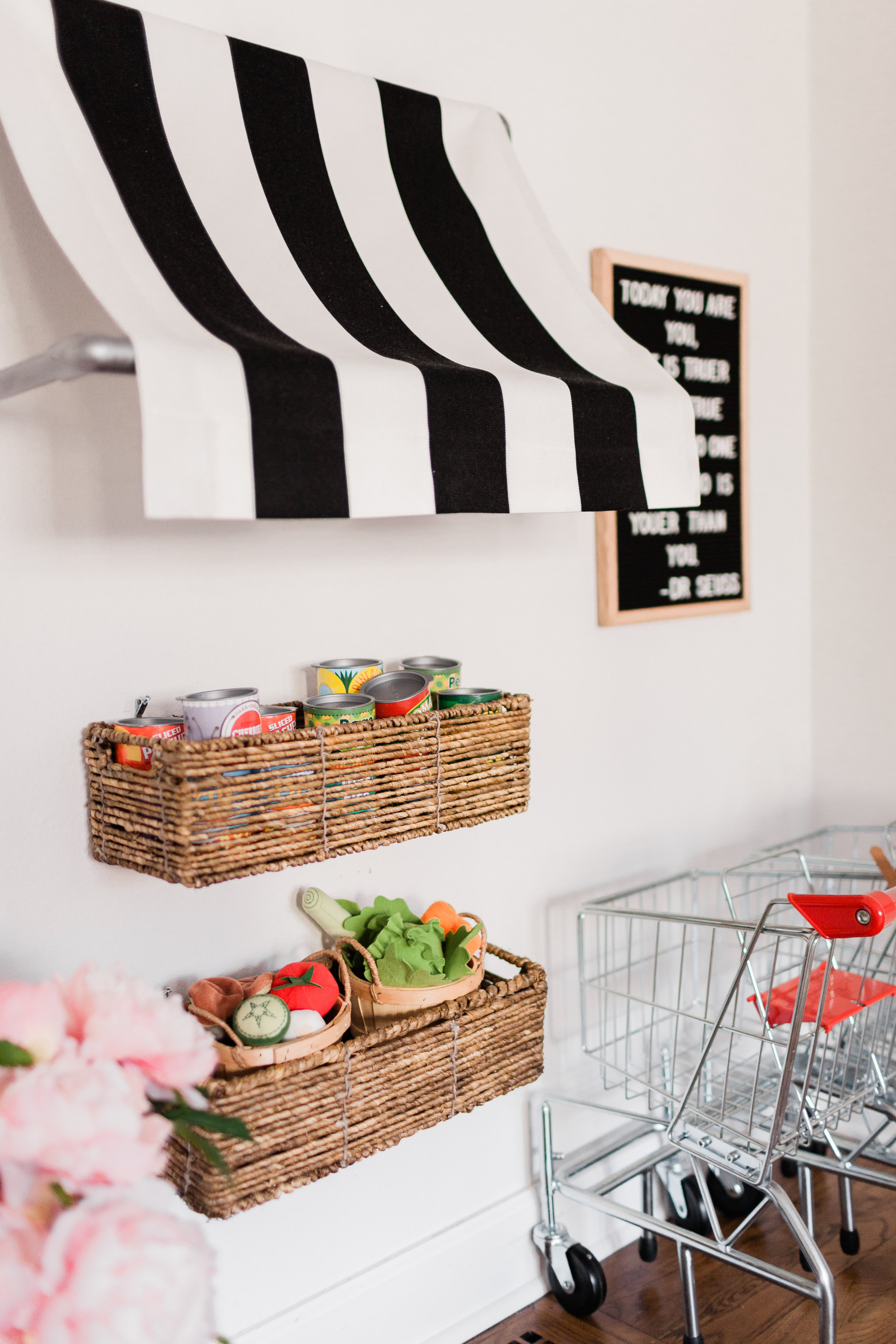 Cheery Modern Eclectic Playroom Interior Design by Harper Rae Design Co