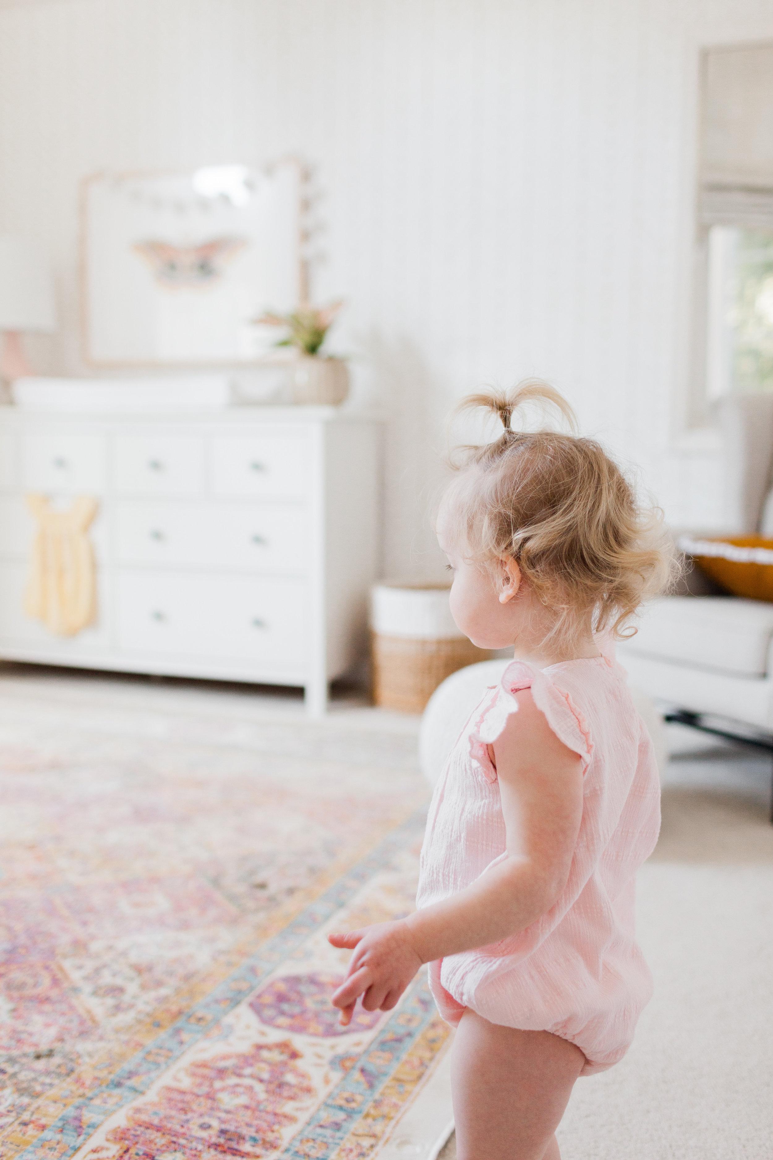 Stunning Bright White Little Girls Room Nursery by Harper Rae Design Co