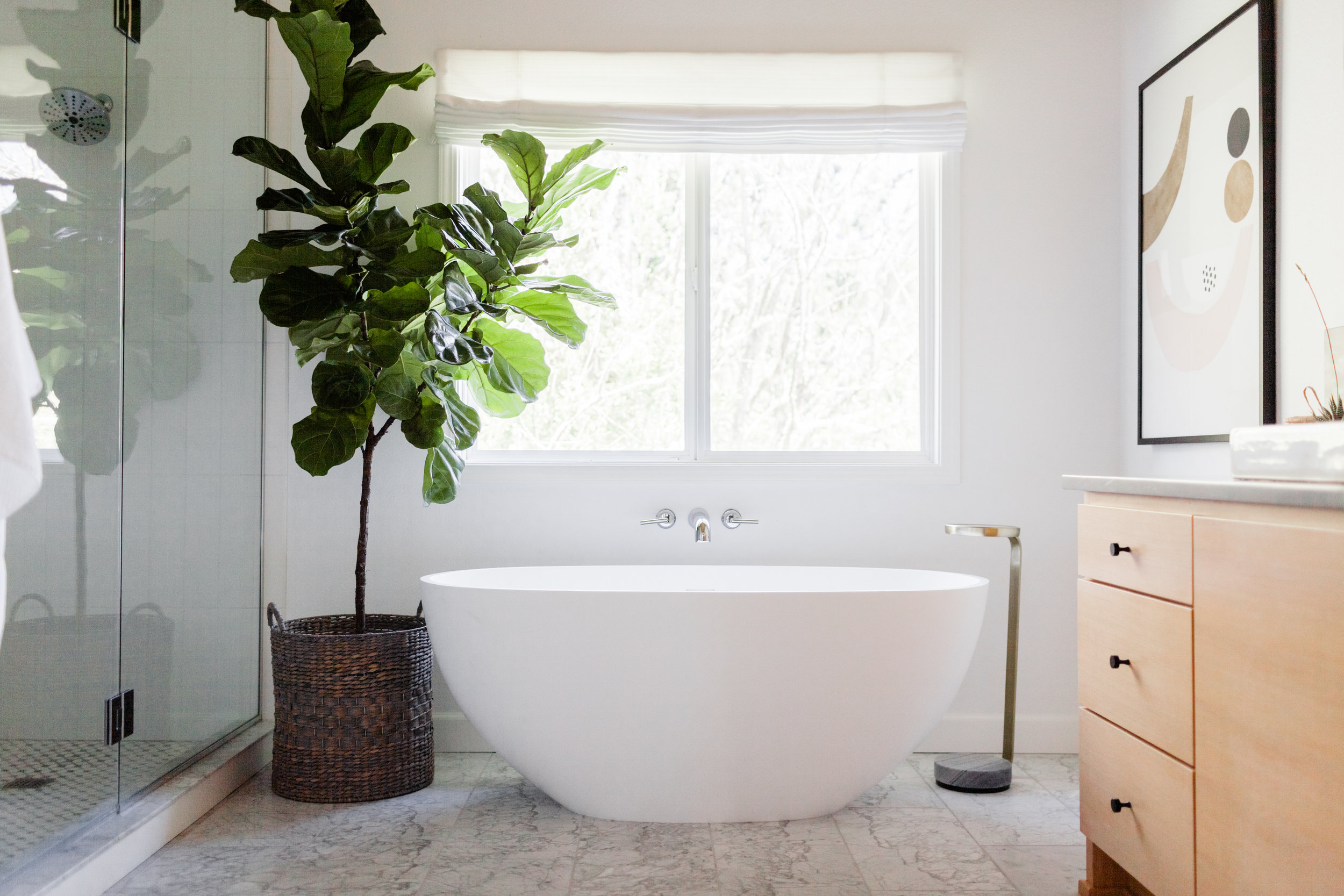 Gorgeous Mixed Modern Master Bath Remodel by Harper Rae Design Co