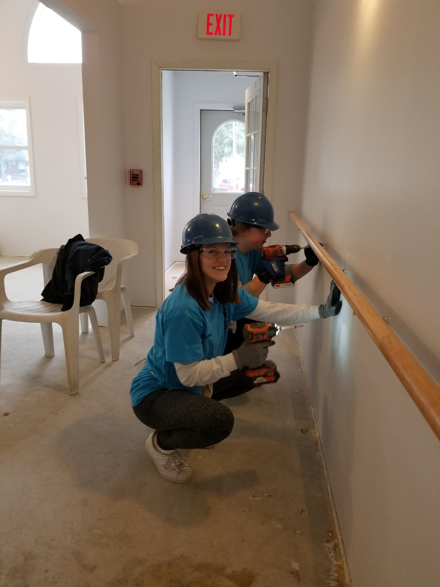 La Valle - UW students install railing.jpg