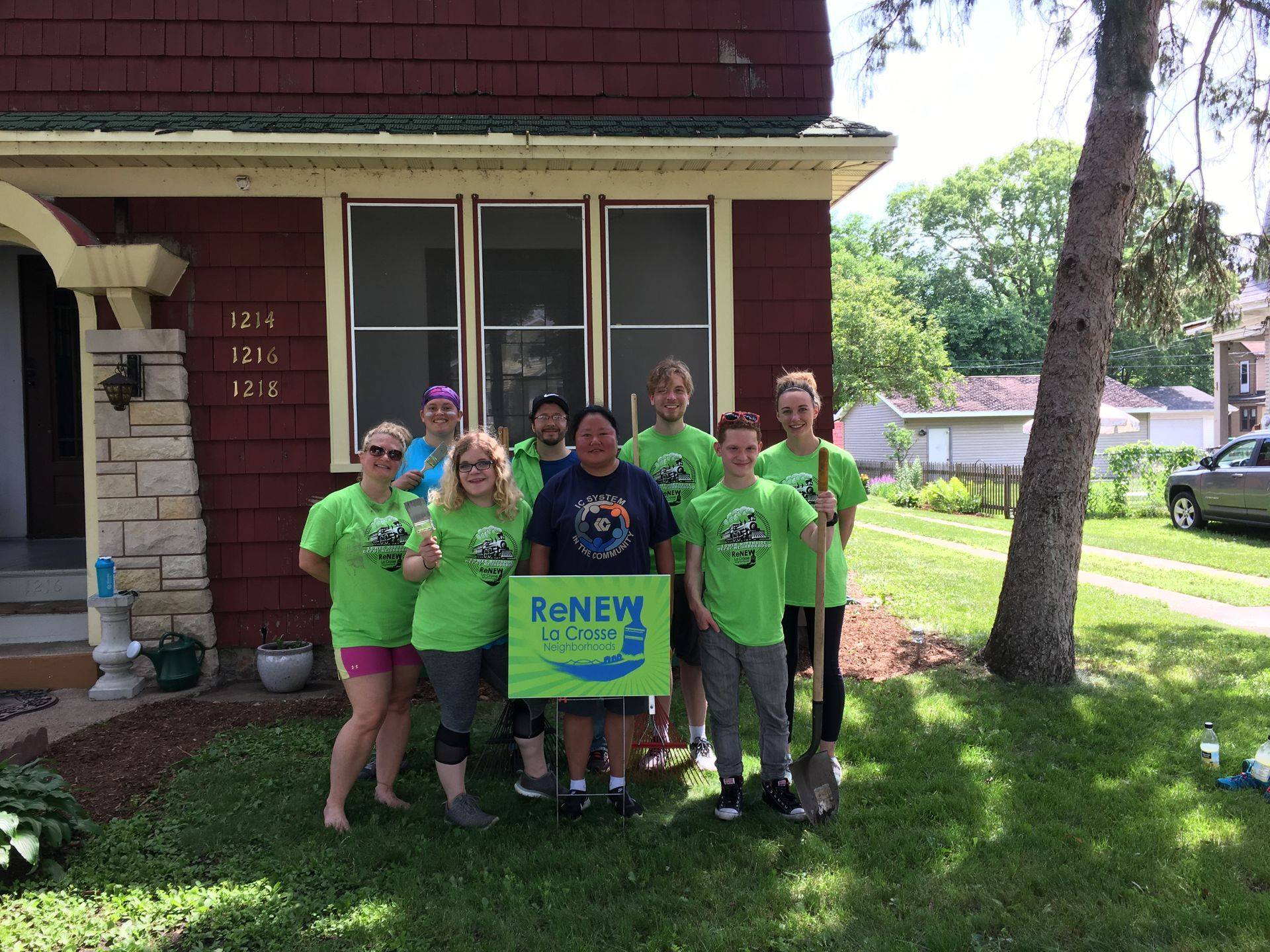 Volunteers spruced up a home as part of La Crosse's reNEW Program.