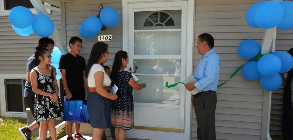 Home dedication celebration with HFH Lakeside.