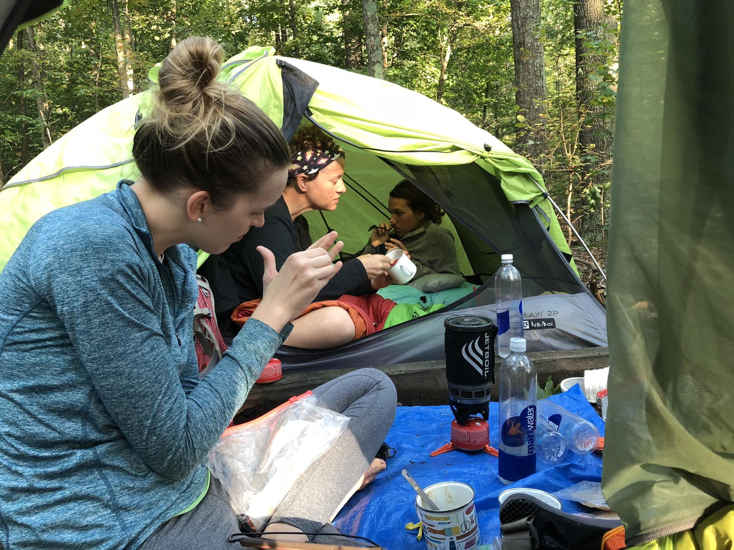 Coffee is quite serious for the leaders. Breakfast usually consists of oatmeal with mixed nuts…but the coffee comes on before we even get out of our sleeping bags.