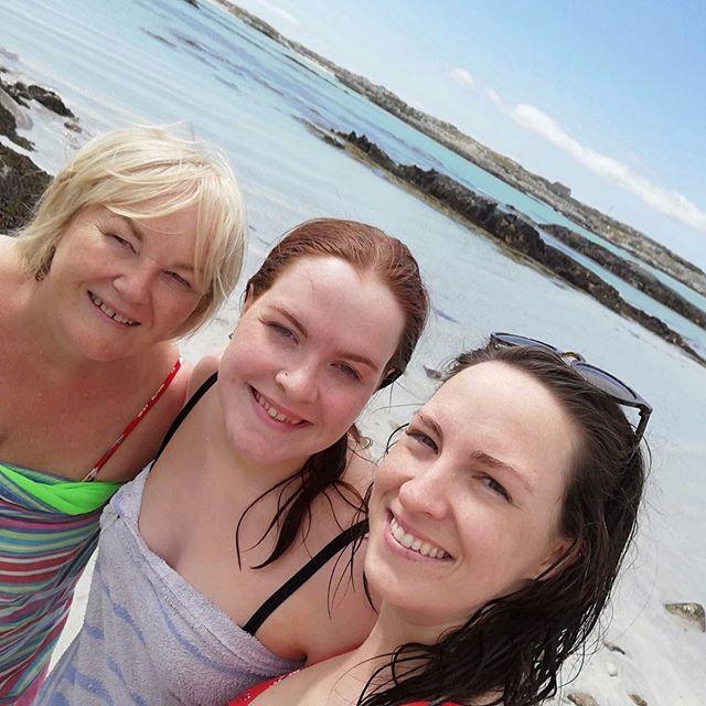Blessed to have these beautiful girls as my swimming partners. • • • • •  #wellness #connemara #bioenergy #galway #wildatlanticway #summer #healingenergytools #healthylifestyle #ireland #irish #swimming#swimmer #daughter #love
