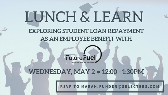 "If you like what you're about to read and are debating whether a student loan assistance program might be a good choice for your company, be sure to reserve your seat for our upcoming Lunch and Learn on May 2nd, ""Student Loan Benefit Programs with FutureFuel.io,"" where you can meet Laurel in person and continue this discussion."