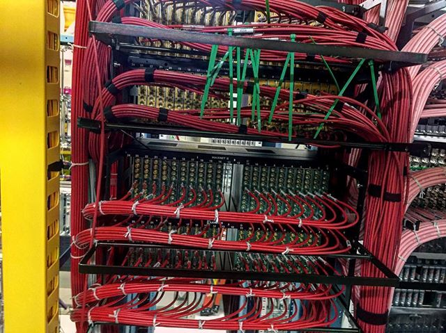 Detail is key .Guess what section is Bluecable wiring#cableporn#detailiskey#return#mcx#network #data #hub#headend #nodes #wiring#coax