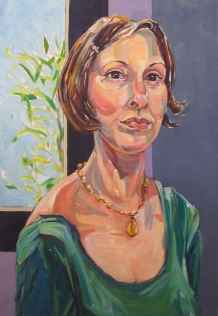 Woman with Drop Necklace
