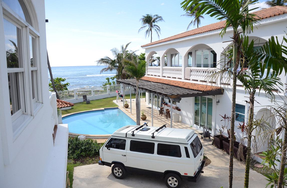 Villa Playa Maria, a luxury Caribbean beachfront villa in the heart of Rincon's surf and beach culture. Photo via VillaPlayaMaria.com