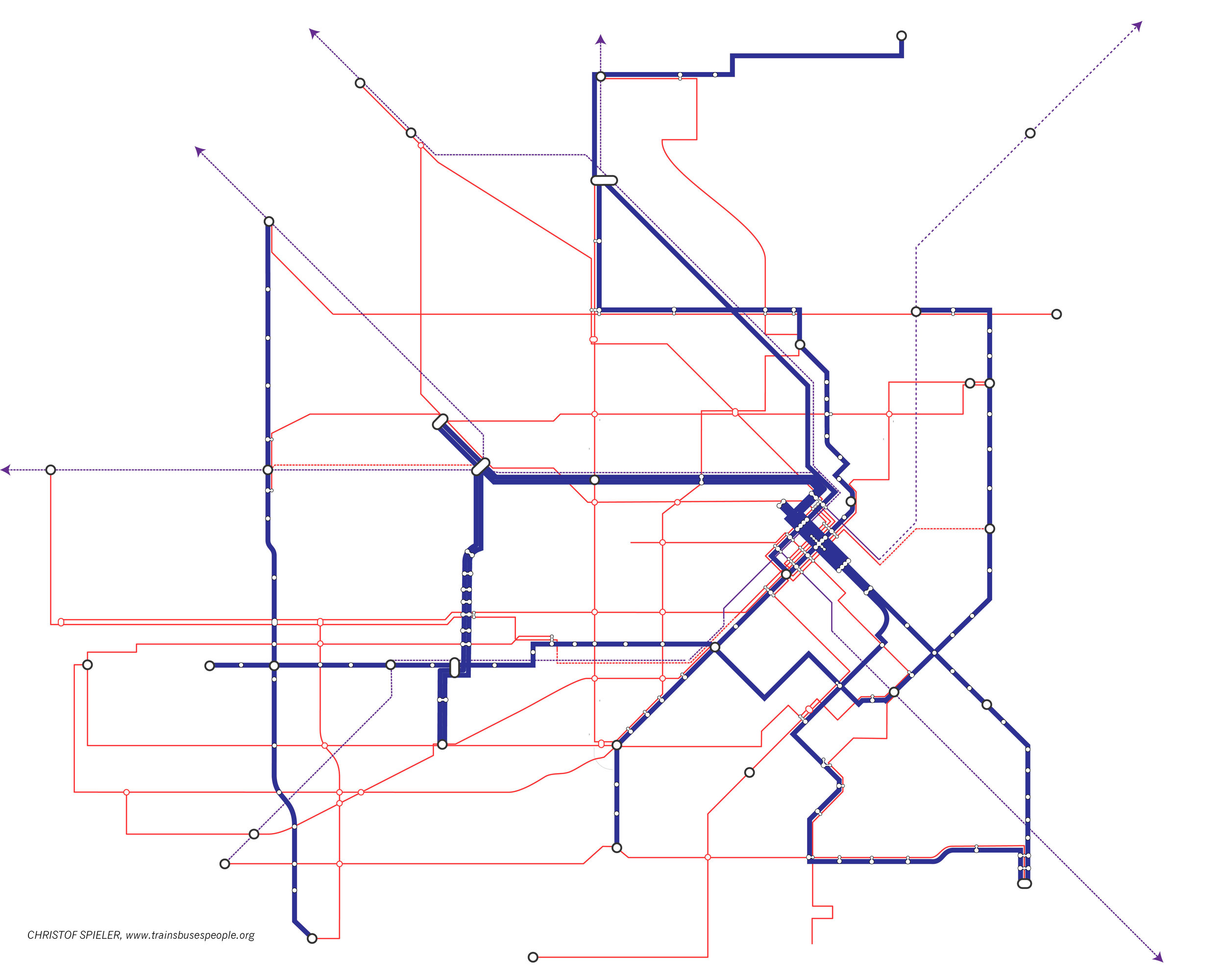 Diagram of METRONext frequent transit network.