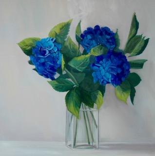 Blue, 36in x 36in