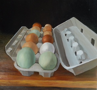 Special Chickens, Special Eggs, 12 in x 12in