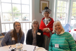 Members with Beth Roberts Brown in Welsh National Dress