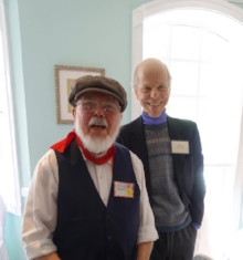 Ed Brown in a Slate Quarryman's outfit with member Mark Spencer