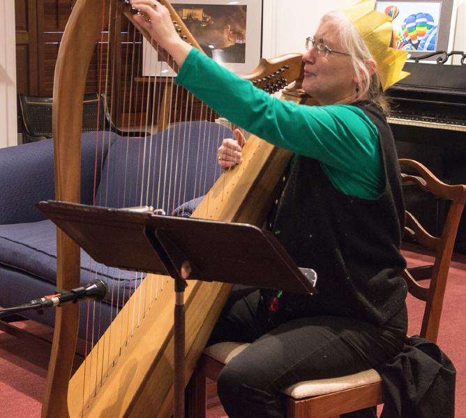 Kasha Breau & her harp.