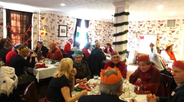 Almost 50 people enjoyed each other's company at the luncheon.