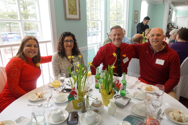 Members Julia Imperato and Howard Davies (from Bethesda) with friends Marcella and Brian Boatman