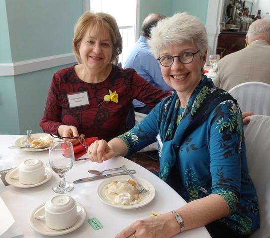 Susan Davies Sit with speaker, Diane Owen