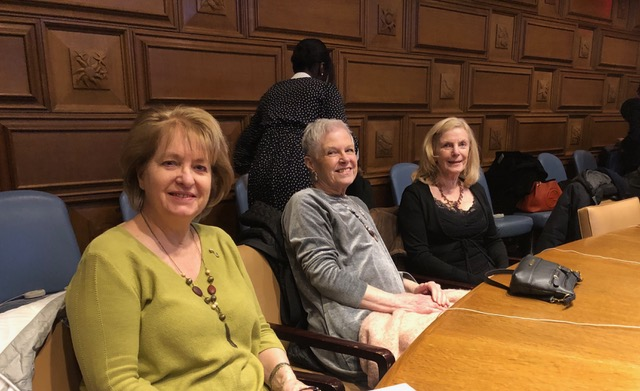 WSWNE members Susan Davies Sit, Susan Jenkins Meers and Shirley Jones Gilmartin at the United Nations.