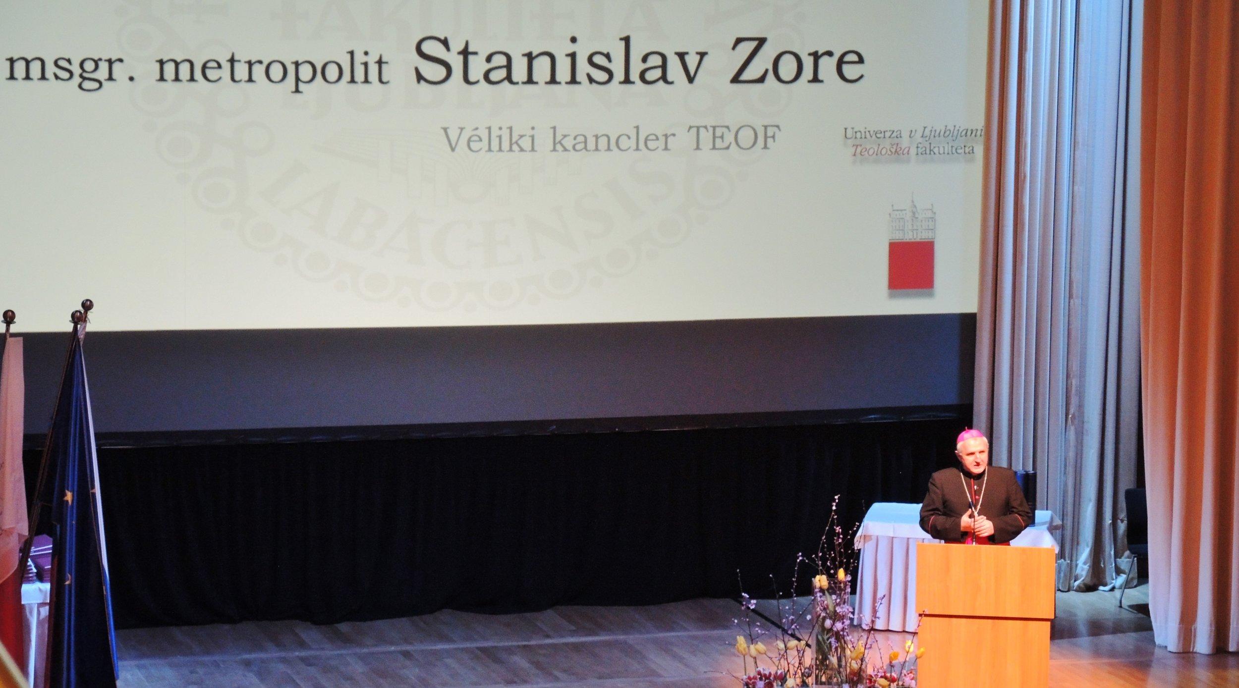Mons. Stanislav Zore, ljubljanski nadškof metropolit in véliki kancler Teološke fakultete (foto: Nadškofija Ljubljana)