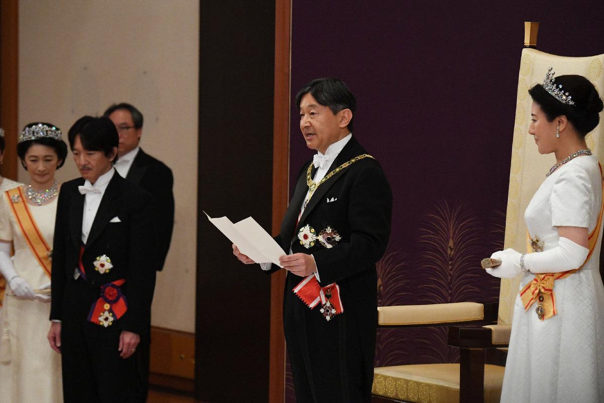 Japonski cesar Naruhito ob zasedbi prestola (foto: China Daily)