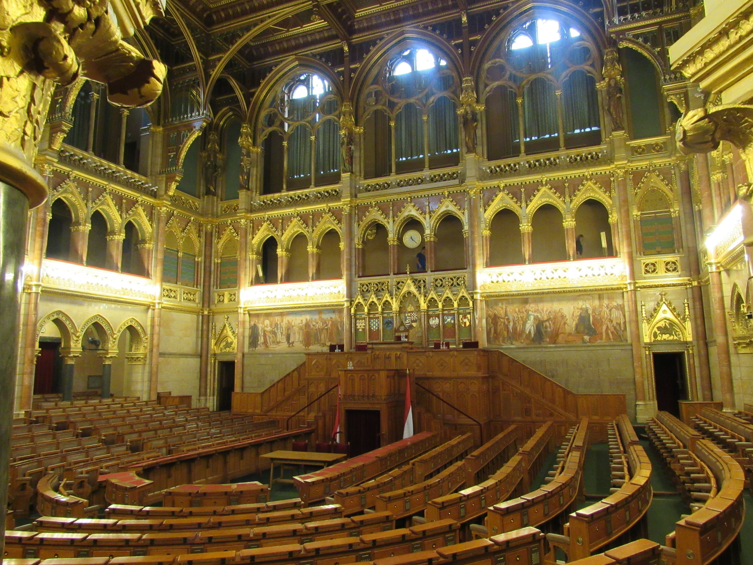 Ena od dvoran v madžarskem parlamentu
