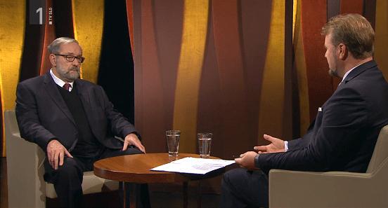 Intervju na nacionalni televiziji (foto: RTVSLO)