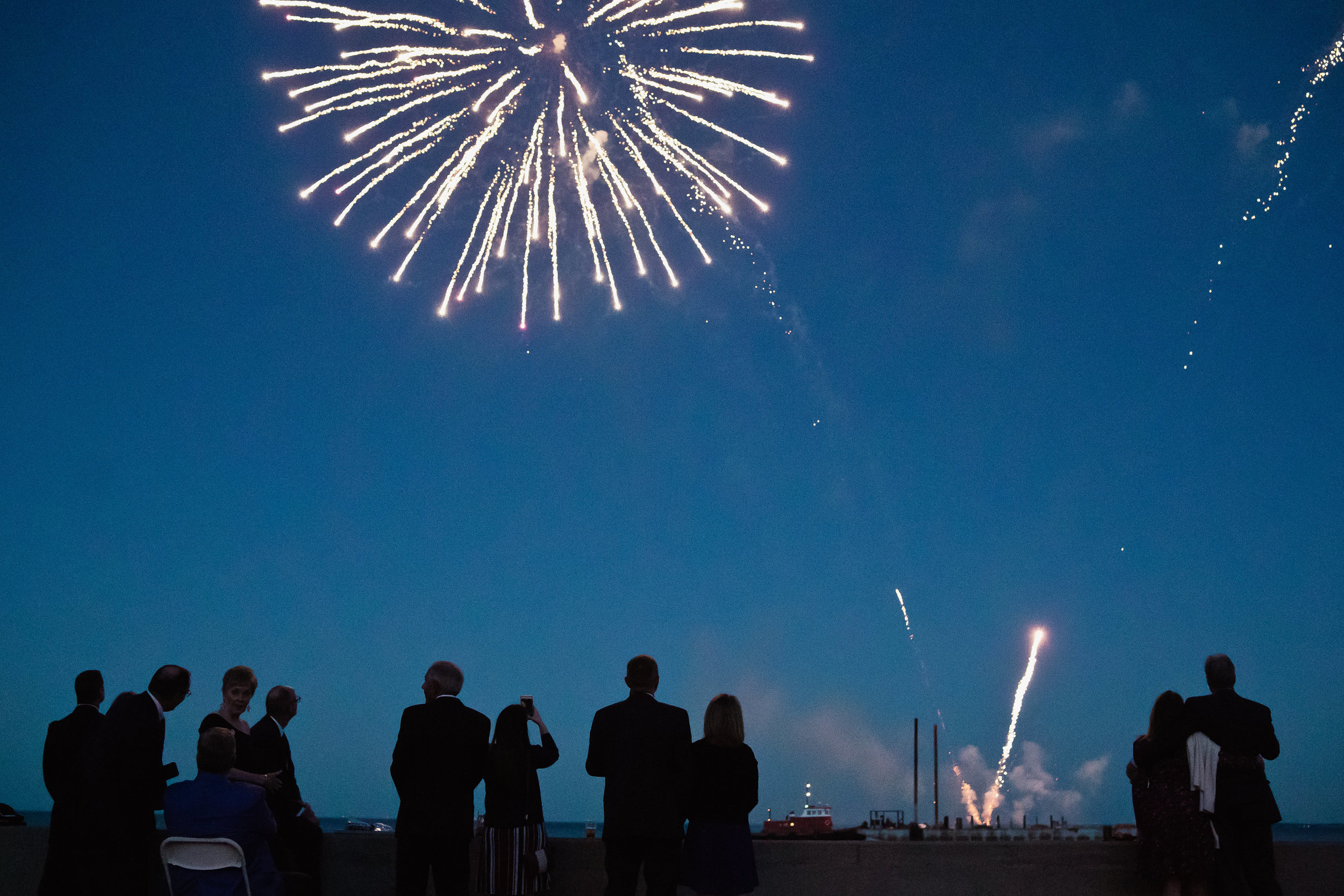 """Gala Fireworks Sponsor - Enjoy An Evening of Red, White, and Blue with your party of 16, including the opportunity to """"push the button"""" to begin the grand finale fireworks display!$12,500+"""
