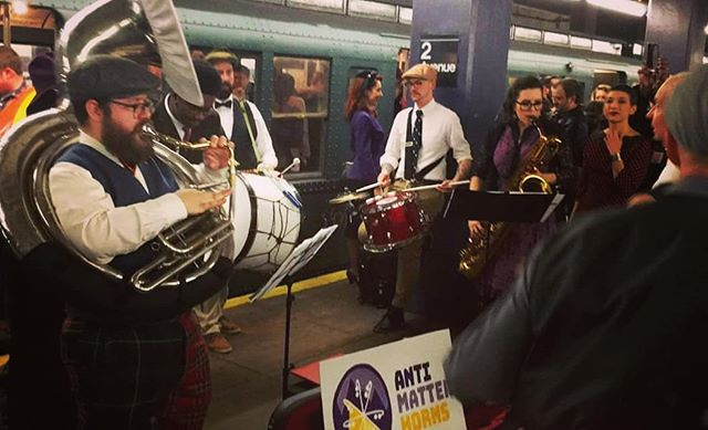 Pre-sales for Brooklyn Mardi Gras: brass band blowout! with @underground_horns and @ltrainbrass are almost sold out! Want to be sure you can dance with us on Saturday at @gemini_scorpio Loft? Get your tickets now! (There will be some tickets at the door, but they're first-come-first serve, so you don't want to risk it!) #brooklynmardigras #mardigras #brassband #gumbo