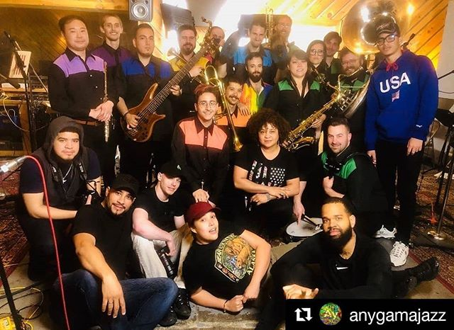 Thinking back to an amazing recording session just ten days ago. Can't wait to hear the final product later this summer. Thanks for having us, @anygamajazz! #Repost @anygamajazz