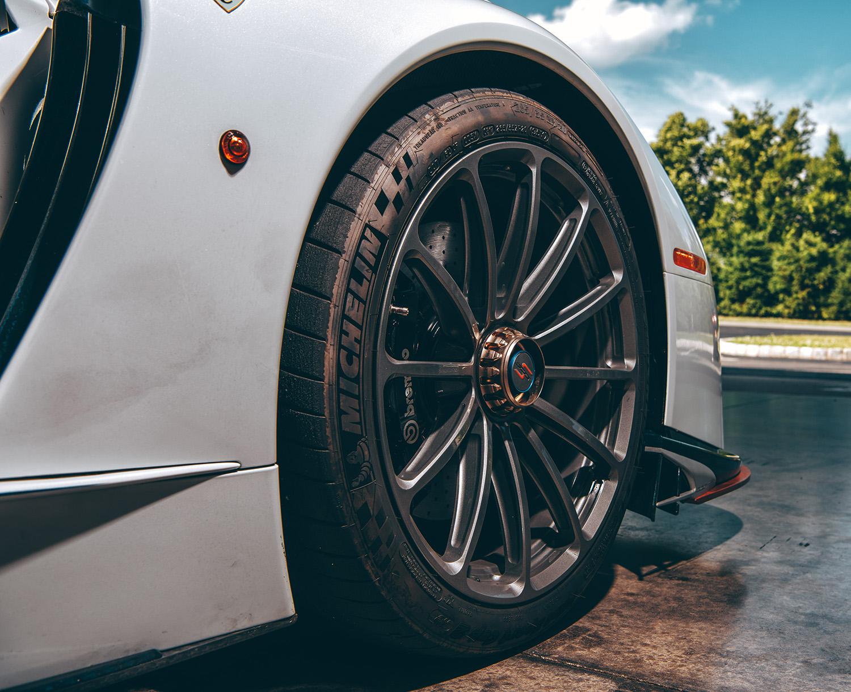 SCG 003S Brembo Carbon Ceramic Brakes on Forgeline Centerlock wheels